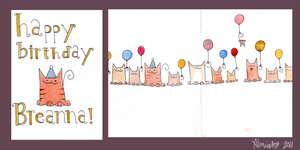 Happy Cats Happy Birthday by Almirah