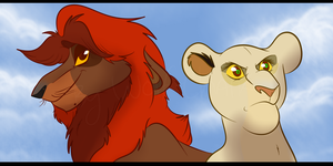 King Ahadi and Queen Uru by Wolf-Chalk