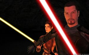 Revan and Bastila by inyriforge