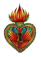Milagro Sacred Heart Lotus Tat by spookyspittle