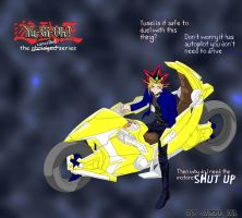 Yami...on motorcycle? by AXel-KL