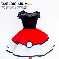 Pokeball Pokemon Cosplay Lolita Skirt by DarlingArmy