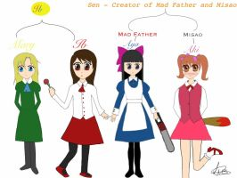 Mad Father, Ib and Misao by XxCandy-LoverxX