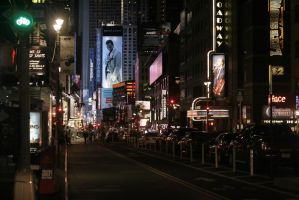 Broadway and 53rd St by psychowolf21
