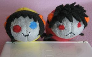 Karkat and Sollux Grubs by AmberTDD