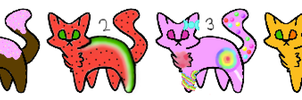 Food Theme Cat Adoptables by dragonflyzMC