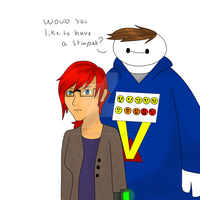 Baymax!Jordan and Cywren by ThePikachuishere