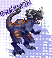 Greymon by Garmmon