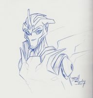 Botcon Arcee Sketch NOT MINE by Ha-HeePrime