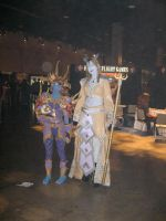 Me and a Draenei lol by horsekid11