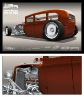 rat rod rendering by SurfaceNick