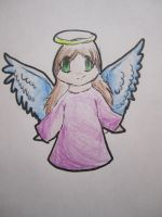 Christmas Angel .:Chibi:. by Goldenstarz