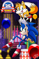 Happy 25th Anniversary Sonic by JovialNightz