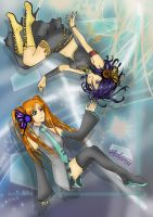 Rukia and Orihime collab by jessally