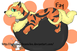 -New OC Fay the Arcanine- by Puffed-Up
