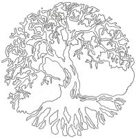 Tree of Life Linework by Lucky-Cat-Tattoo