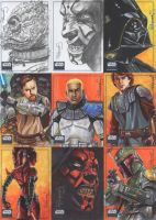 SW Galaxy 6 sketch cards pg3 by vividfury