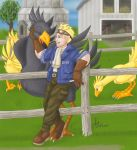 Cid and the Chocobos by EJW