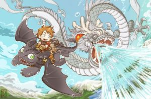 How to Train Your Dragon by kasau-vn