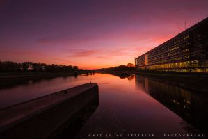 Red Light Above the Canal by Svision