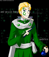 HP:Draco as Slytherin by Avatar013
