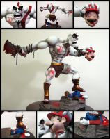 Kratos vs Mario Bros by IgorGosling