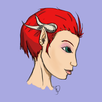 Drie's Profile - Painted by ScarletHost