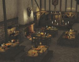 Medieval Tavern Test 1 by SnowSultan