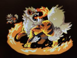 Arcanine Pixels! (FINAL) by KrocutaKaiju