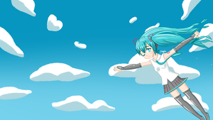 Miku Among The Clouds by AegisSan