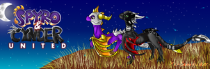 PC: Spyro and Cynder Banner by xX-Starduster-Xx