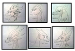 Dragon Ladies of dA doodles 2 by Thornacious