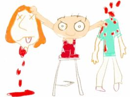 Stewie's Drawings - Decapitate by DiL8