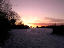 Sunset of Snow by RicGrayDesign