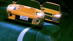 Initiial-D-5th-stage-EVO-vs-RX7 by CrazyLZ