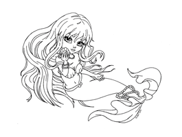 Rina from mermaid melody - Lineart by JadeDragonne