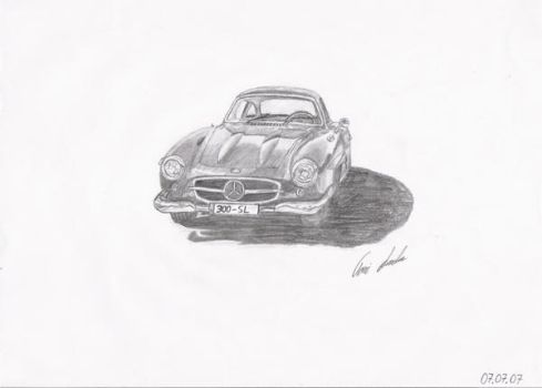 Mercedes Benz 300 SL by dtwolf