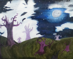 Night Sky oil painting by HauntedsoulSouleater