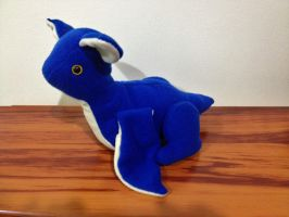 Blue Baby Wyvern Dragon Plushie by x0xChelseax0x