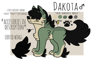 Dakota Ref Sheet by corviids