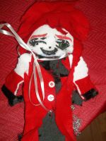 Grell Sutcliff plushie front by Linked-Memories-21