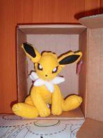 Jolteon plushie by WolfPink