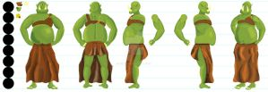 Cyclopes Character Turnaround by E2x7u