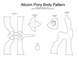 Alicorn pattern body by Skrapbox