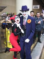 Harley and Joker by calkat38