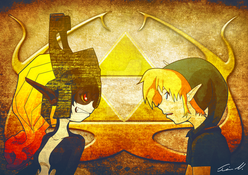 Midna and Link - Twilligt/Majoras Mask by artisticbeat