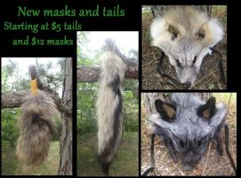 Tails and masks for sale by NightsGem
