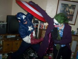 Cap vs Joker by sarahbevan11