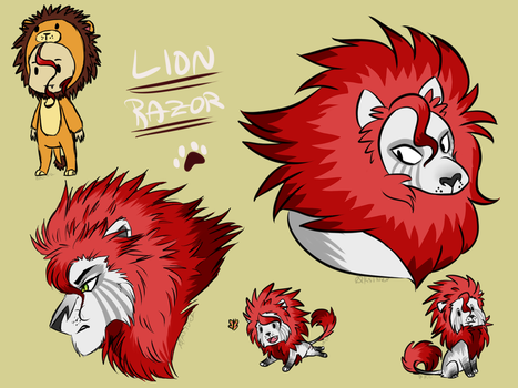 .:Lion Razor Doodles:. by XKSilver