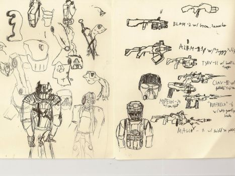Sketchy Sketchy dump dump 3, Armor and guns by Pyrotactick